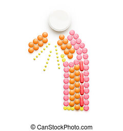 Spreading bacteria - Creative health concept made of drugs...