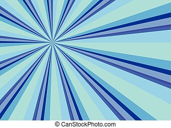 Light Ray Burst Abstract Background Blue Vector Illustration