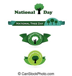 National Tree Day banner vector