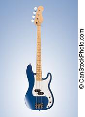 Blue matte bass guitar - Blue matte four string bass guitar...