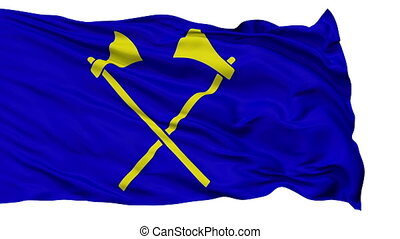 Saint Helier City Isolated Waving Flag - Saint Helier...