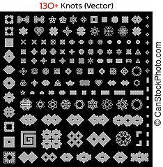 130 Celtic, Asian and other knots - 130 Celtic, Asian...