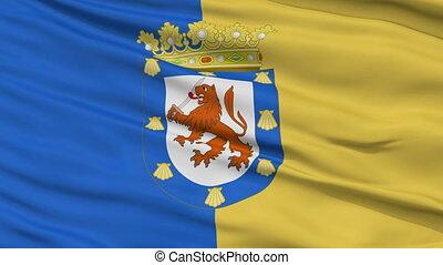 Santiago City Close Up Waving Flag - Santiago Capital City...