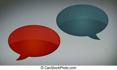Glossy Speech Bubbles - Animation of lickable glossy speech...