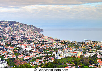 View of Funchal in the spring, Madeira, Portugal