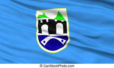 Sarajevo City Close Up Waving Flag - Sarajevo Capital City...
