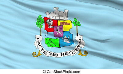 Sofia City Close Up Waving Flag - Sofia Capital City Flag of...