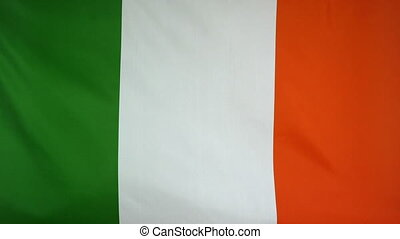 Republic of Ireland Flag fabric - Textile flag of Republic...