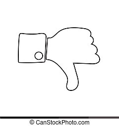 Thumbs up icon , Like icon , dislike icon illustration...