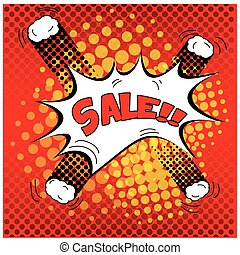 Comic sales - Isolated comic expressions for a discount...