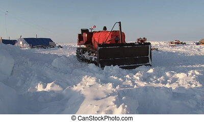 Ice Camp Barneo Arctic near the North Pole Drift station on...