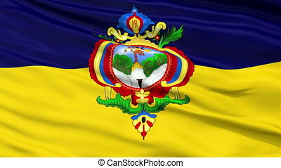 Tegucigalpa City Close Up Waving Flag - Tegucigalpa Capital...