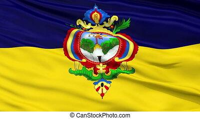 Tegucigalpa City Close Up Waving Flag - Tegucigalpa Capital...