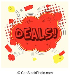 Comic sales - White background with an isolated comic...
