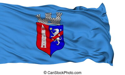 Tirana City Isolated Waving Flag - Tirana Capital City Flag...