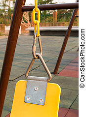 The swings in the playground