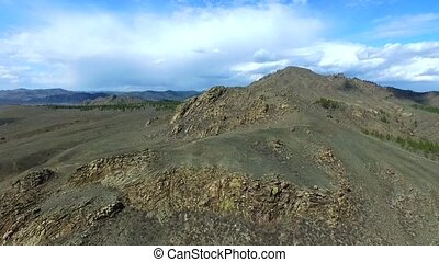 Establishing shot Mountain Beautiful nature Drone shot in...