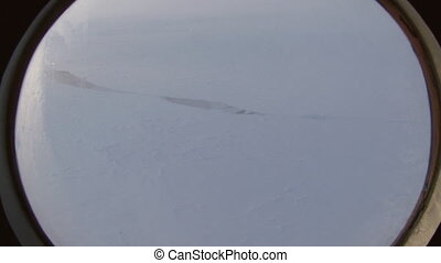 Ice Camp Barneo Arctic near the North Pole. Drift station on...