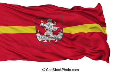 Vilnius City Isolated Waving Flag - Vilnius Capital City...