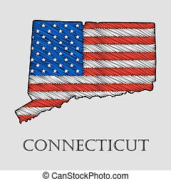 State Connecticut - vector illustration. - State Connecticut...