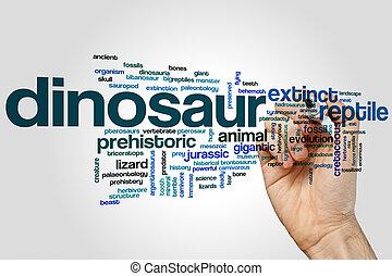 Dinosaurio, palabra, nube,