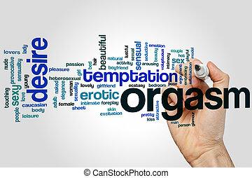 Orgasm word cloud