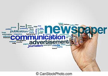 Newspaper word cloud - Newspaper concept word cloud...