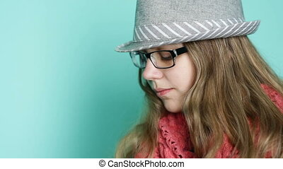Young woman with glasses in a modern style