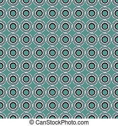 Seamless pattern with abstract circular figures - Seamless...