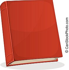 Red Book Cover Isolated On White