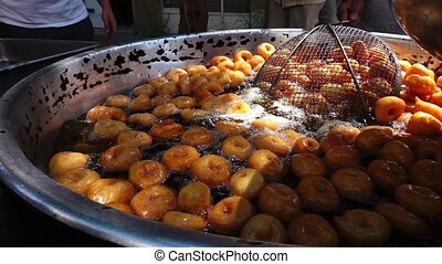 Turkish Traditional Dessert Lokma - Turkish Traditional...