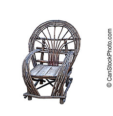 Old rustic wooden chair