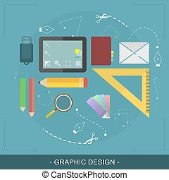 Graphic design flat concept Editable vector illustration for...