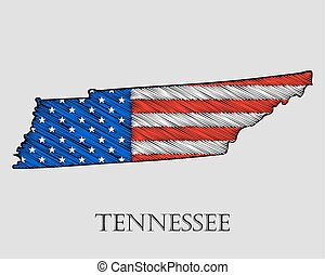 State Tennessee - vector illustration. - State Tennessee in...