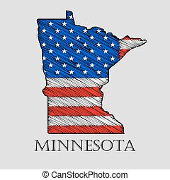 State Minnesota - vector illustration. - State Minnesota in...