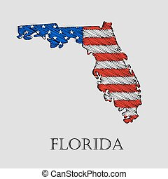 State Florida - vector illustration. - State Florida in...