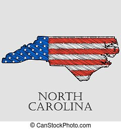 State North Carolina - vector illustration. - State North...