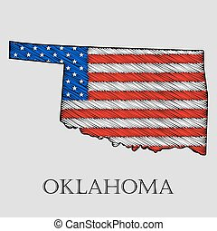 State Oklahoma - vector illustration. - State Oklahoma in...
