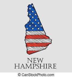 State New Hampshire - vector illustration - State New...