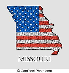 State Missouri - vector illustration. - State Missouri in...