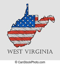 State West Virginia - vector illustration - State West...