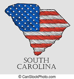 State South Carolina - vector illustration - State South...