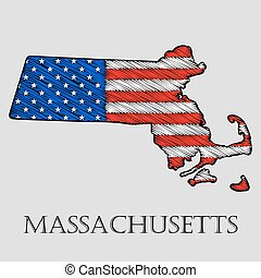 State Massachusetts - vector illustration - State...
