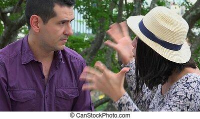 Woman Angry At Man