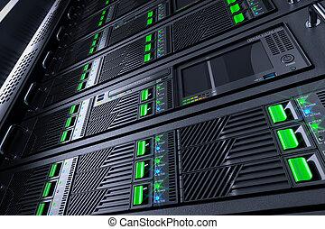 Server rack panels in data center