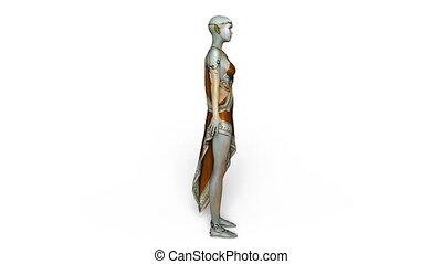 Female alien - 3D CG rendering of a female alien
