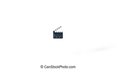 Clapperboard - 3D CG rendering of a clapperboard
