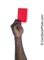 Symbol against racism - A dark-skinned person holding a red...