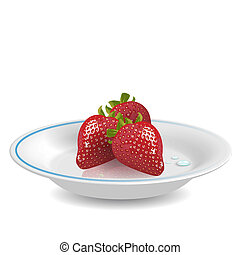 Strawberry on saucer