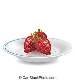 Strawberry on saucer